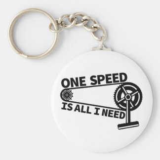 One Speed Is All I Need, single speed fixie Keychain