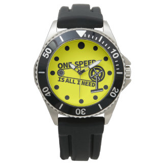 One Speed Is All I Need, single speed fixie Watches