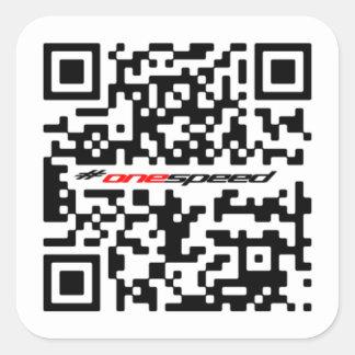 One speed QR Square Sticker