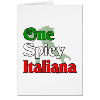 One Spicy Italiana Card