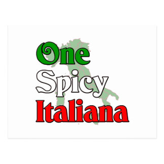 One Spicy Italiana Postcard