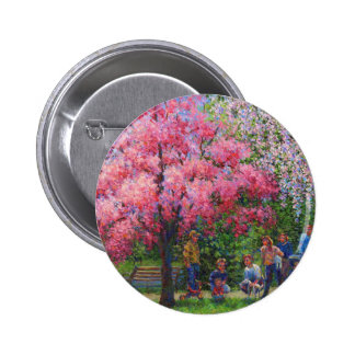 One Spring Morning Pinback Button