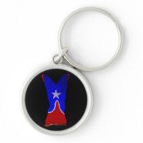 One Star Cowboy Boot Keychain