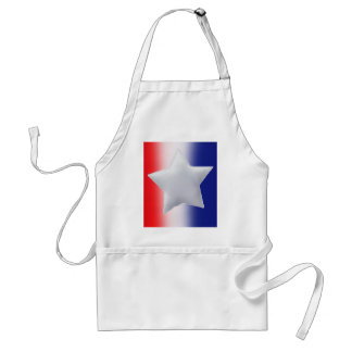 One star on red white blue background adult apron