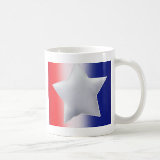 One star on red white blue background coffee mug