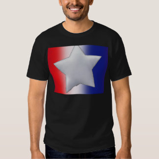One star on red white blue background shirt