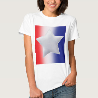 One star on red white blue background t-shirt