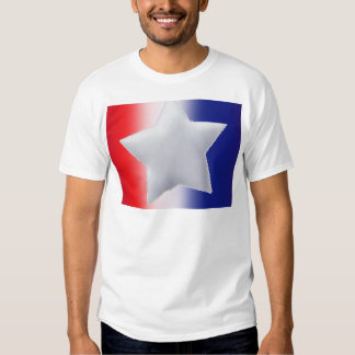One star on red white blue background t shirt