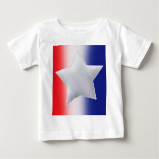 One star on red white blue background tee shirt
