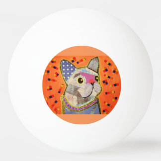 One Star Ping Pong Ball with Cute Puppy Dog