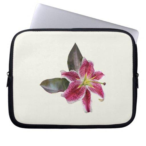 One Stargazer Lily Laptop Sleeve