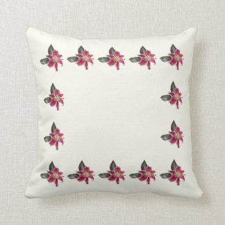 One Stargazer Lily Throw Pillow