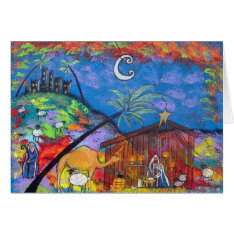 One Start Night Christmas Greeting Card at Zazzle