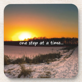 One Step at a Time Beverage Coaster
