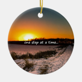 One Step at a Time Ceramic Ornament