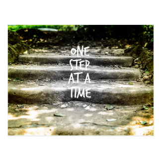 One Step at a Time Encouragement Postcard