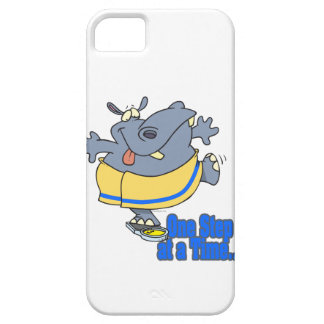one step at a time funny dieting hippo iPhone 5 cover