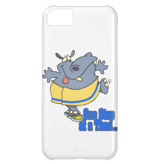 one step at a time funny dieting hippo cover for iPhone 5C