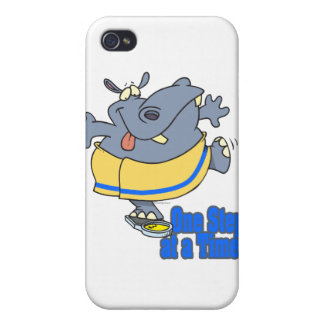 one step at a time funny dieting hippo iPhone 4 case