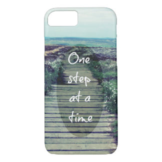 One Step at a Time Inspirational Quote iPhone 8/7 Case