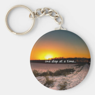 One Step at a Time Keychain