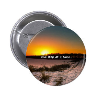 One Step at a Time Pinback Button