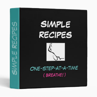 One Step At A Time, SIMPLE  RECIPES,  binder