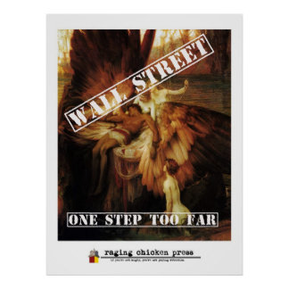 One Step Too Far | Wall Street Icarus w/ Masthead Poster