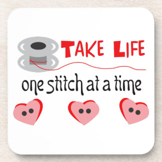 ONE STITCH AT A TIME DRINK COASTERS