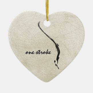one stroke ceramic ornament