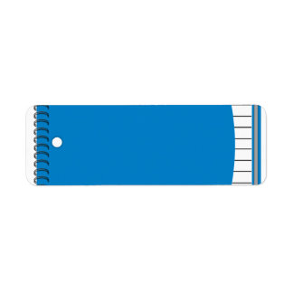 one subject notebook graphic label