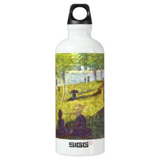 One Sunday on La Grande Jatte, draft by Seurat Aluminum Water Bottle