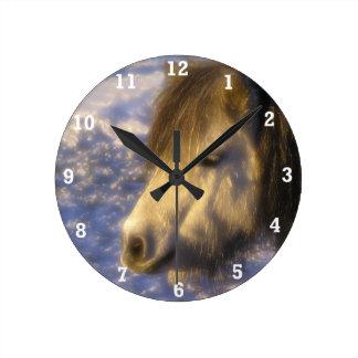 One Sunny Day Round Clock