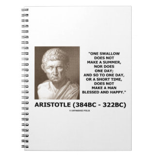 One Swallow Does Not Make A Summer Aristotle Quote Notebook