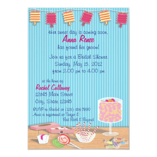 One Sweet Day Bridal Shower 5x7 Paper Invitation Card
