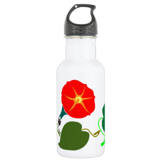 ONE Sweet Flower: Add your GREETING / Commendation 18oz Water Bottle