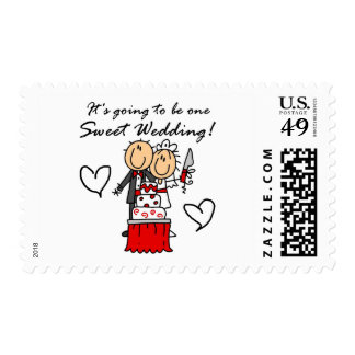 One Sweet Wedding T-shirts and Gifts Postage Stamp