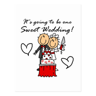 One Sweet Wedding T-shirts and Gifts Postcard