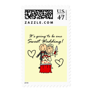 One Sweet Wedding T-shirts and Gifts Stamp