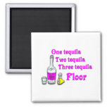 One tequila #3 2 inch square magnet