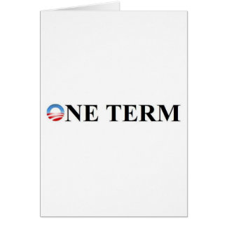 ONE TERM CARD