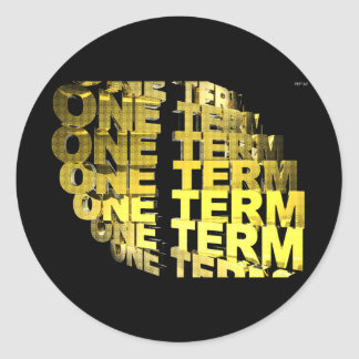 One Term Classic Round Sticker