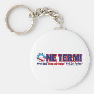 One Term How'd That Hope And Change Work Out Keychain
