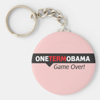 One Term Obama - Game Over Keychain