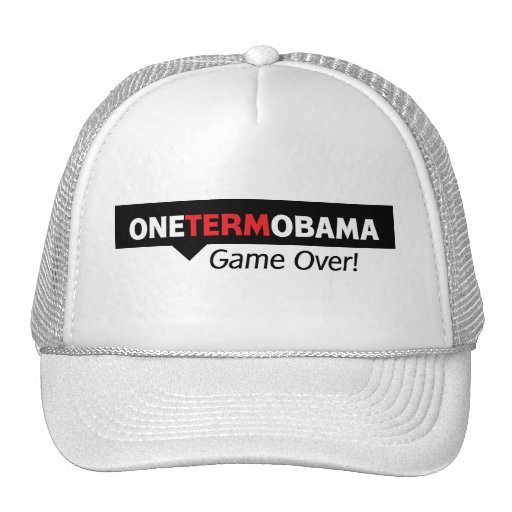 One Term Obama - Game Over Mesh Hat