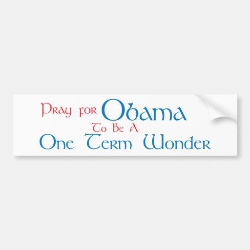 One Term Wonder Bumper Sticker
