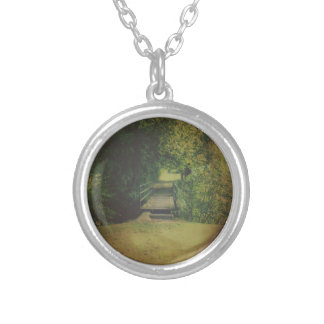 One the Other Side Round Pendant Necklace