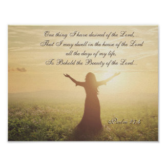 One Thing I have Desired of the Lord, Psalm 27:4, Poster