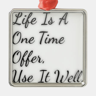 One Time Offer Metal Ornament