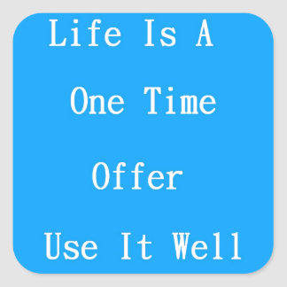 One Time Offer Square Sticker